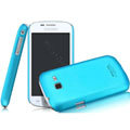 IMAK Ultrathin Matte Color Covers Hard Cases for Samsung I699 S7562i GALAXY Trend - Blue (High transparent screen protector)