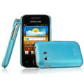 IMAK Ultrathin Matte Color Covers Hard Cases for Samsung S5360 Galaxy Y I509 - Blue (High transparent screen protector)