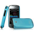 IMAK Ultrathin Matte Color Covers Hard Cases for Samsung i5800 Apollo Galaxy3 - Blue (High transparent screen protector)