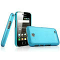 IMAK Ultrathin Matte Color Covers Hard Cases for Samsung i589 - Blue (High transparent screen protector)