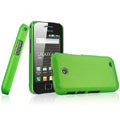 IMAK Ultrathin Matte Color Covers Hard Cases for Samsung i589 - Green (High transparent screen protector)