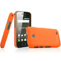 IMAK Ultrathin Matte Color Covers Hard Cases for Samsung i589 - Orange (High transparent screen protector)