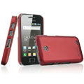 IMAK Ultrathin Matte Color Covers Hard Cases for Samsung i589 - Red (High transparent screen protector)