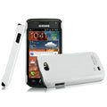 IMAK Ultrathin Matte Color Covers Hard Cases for Samsung i8150 Galaxy W - White (High transparent screen protector)