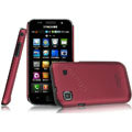 IMAK Ultrathin Matte Color Covers Hard Cases for Samsung i9003 - Red (High transparent screen protector)