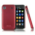 IMAK Ultrathin Matte Color Covers Hard Cases for Samsung i9008 i9003 - Red
