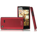 IMAK Ultrathin Matte Color Covers Hard Cases for Samsung i9088 i897 - Red