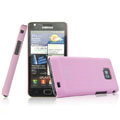 IMAK Ultrathin Matte Color Covers Hard Cases for Samsung i9100 i9108 i9188 Galasy S2 - Pink