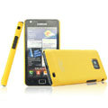 IMAK Ultrathin Matte Color Covers Hard Cases for Samsung i9100 i9108 i9188 Galasy S2 - Yellow