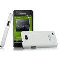 IMAK Ultrathin Matte Color Covers Hard Cases for Samsung i9103 Galaxy R - White (High transparent screen protector)