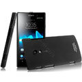 IMAK Ultrathin Matte Color Covers Hard Cases for Sony Ericsson LT28i Xperia ion - Black (High transparent screen protector)