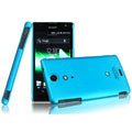 IMAK Ultrathin Matte Color Covers Hard Cases for Sony Ericsson LT29i Xperia Hayabusa Xperia GX/TX - Blue (High transparent screen protector)