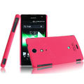IMAK Ultrathin Matte Color Covers Hard Cases for Sony Ericsson LT29i Xperia Hayabusa Xperia GX/TX - Rose (High transparent screen protector)