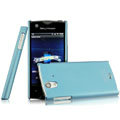 IMAK Ultrathin Matte Color Covers Hard Cases for Sony Ericsson ST18i Xperia ray - Blue (High transparent screen protector)