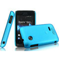 IMAK Ultrathin Matte Color Covers Hard Cases for Sony Ericsson ST21i Xperia Tipo - Blue (High transparent screen protector)
