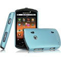 IMAK Ultrathin Matte Color Covers Hard Cases for Sony Ericsson WT18i - Blue (High transparent screen protector)