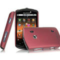 IMAK Ultrathin Matte Color Covers Hard Cases for Sony Ericsson WT18i - Red (High transparent screen protector)