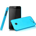 IMAK Ultrathin Matte Color Covers Hard Cases for ZTE U795 - Blue (High transparent screen protector)