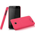 IMAK Ultrathin Matte Color Covers Hard Cases for ZTE U795 - Rose (High transparent screen protector)