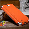 Nillkin Stylish Color Leather Cases Holster Covers for Samsung N7100 GALAXY Note2 - Orange (High transparent screen protector)