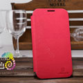 Nillkin Stylish Color Leather Cases Holster Covers for Samsung N7100 GALAXY Note2 - Red (High transparent screen protector)