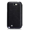 Nillkin leather Cases Holster Covers for Samsung N7100 GALAXY Note2 - Black (High transparent screen protector)