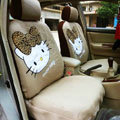 Hello Kitty Universal Auto Car Seat Cover Set 12pcs - Beige