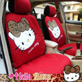 Hello Kitty Universal Auto Car Seat Cover Set 12pcs - Red