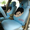 Monchhichi Universal Auto Car Seat Cover Set 18pcs - Blue