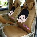 Monchhichi Universal Auto Car Seat Cover Set 18pcs - Brown