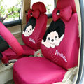 Monchhichi Universal Auto Car Seat Cover Set 18pcs - Rose