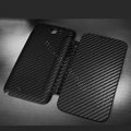 Battery back Cover Siamese holster leather cases for Samsung N7100 GALAXY Note2 - Black