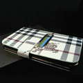 Burberry leather flip cases Holster cover for Samsung Galaxy Note i9220 N7000 i717 - White