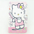 Hello kitty Side Flip leather Cases Covers for Samsung N7100 GALAXY Note2 - Pink EB006