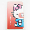 Hello kitty Side Flip leather Cases Covers for Samsung N7100 GALAXY Note2 - Red