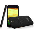 IMAK Cowboy Shell Quicksand Hard Cases Covers for HTC T528t One ST - Black (High transparent screen protector)