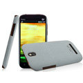 IMAK Cowboy Shell Quicksand Hard Cases Covers for HTC T528t One ST - Gray (High transparent screen protector)