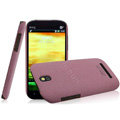 IMAK Cowboy Shell Quicksand Hard Cases Covers for HTC T528t One ST - Purple (High transparent screen protector)