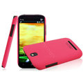 IMAK Ultrathin Matte Color Covers Hard Cases for HTC T528t One ST - Rose (High transparent screen protector)