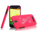 IMAK Ultrathin Rose Color Covers Hard Cases for HTC T528t One ST - Rose (High transparent screen protector)