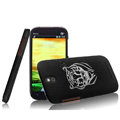 IMAK Ultrathin Tiger Color Covers Hard Cases for HTC T528t One ST - Black (High transparent screen protector)