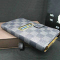 LOUIS VUITTON LV leather flip cases Holster cover for Samsung Galaxy Note i9220 N7000 i717 - Black