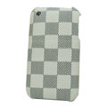 LV LOUIS VUITTON leather Cases Hard Back Covers Skin for iPhone 3G/3GS - Beige