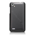 Nillkin Colourful Hard Cases Skin Covers for HTC T528d One SC - Black (High transparent screen protector)