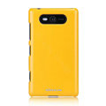 Nillkin Colourful Hard Cases Skin Covers for Nokia Lumia 820 - Yellow (High transparent screen protector)