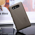 Nillkin Super Matte Hard Cases Skin Covers for Nokia Lumia 820 - Brown (High transparent screen protector)