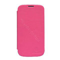 Nillkin Ultrathin leather flip cases Holster Covers for Samsung Galaxy SIII S3 I9300 I9308 I939 I535 - Rose (High transparent screen protector)