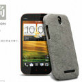 Nillkin leather Cases Holster Covers Skin for HTC T528t One ST - Gray (High transparent screen protector)
