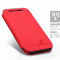 Nillkin leather Cases Holster Covers Skin for HTC T528t One ST - Red (High transparent screen protector)