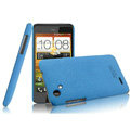 IMAK Cowboy Shell Quicksand Hard Cases Covers for HTC T528d One SC - Blue (High transparent screen protector)